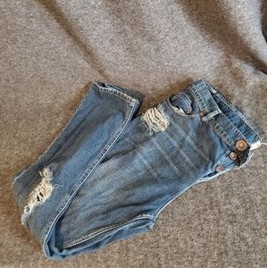 Free People Distressed Jeans Size 28